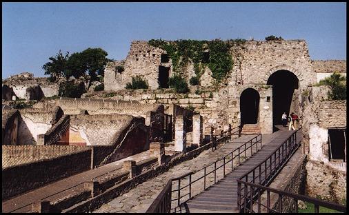 Gli scavi a Pompei